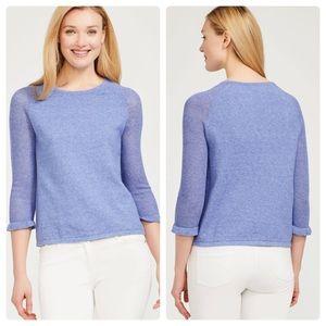 J. Mclaughlin Solid Blue Cotton Sweater
